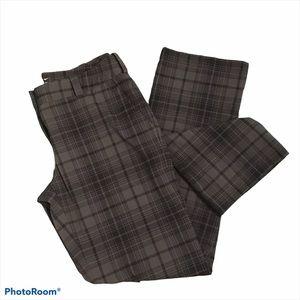 Nike Golf Gray Plaid Modern Rise Golf Pants size 8